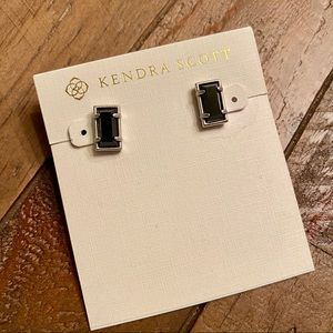 Kendra Scott Black Paola Stud Earrings